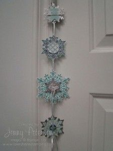 Christmas Garland using Festive Flurry Bundle, Stampin' Up! Demonstrator, Jenny Peterson