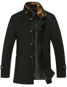 Match Mens Wool Classic Pea Coat Winter Coat at Amazon Men's Clothing store: Wool Outerwear Coats