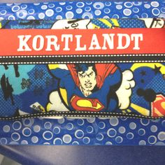 Personalized superman baby wipe case!