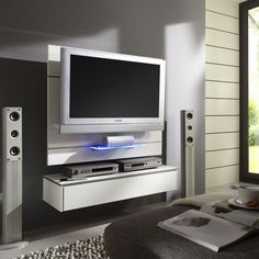 Ensemble meuble tv mural noir laqu led miami appartement pinterest m - Comment fabriquer un support mural tv ...