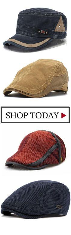 Unisex Knitted Beret Hat Knitting Beret Caps Adjustable Paper Boy Newsboy  Cabbie a1c5da905c67