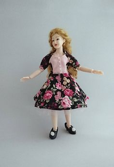 """Wearable dress and petticoat for 1/12 Heidi Ott 5.5"""" slim doll. Price contains shipping. by TuulasBoutique on Etsy"""