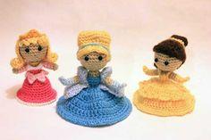 Cinderella doll amigurumi crochet pattern by Sahrit