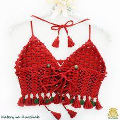 Crochet red top transformer from the back side ♥ Crochet Tops, Red, Women, Fashion, Moda, Women's, La Mode, Fasion, Fashion Models