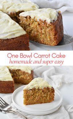 Best Carrot Cake Ever Recipe, Easy Carrot Cake, Easy Cake Recipes, Sweet Recipes, Baking Recipes, Dessert Recipes, Just Desserts, Delicious Desserts, Food Cakes