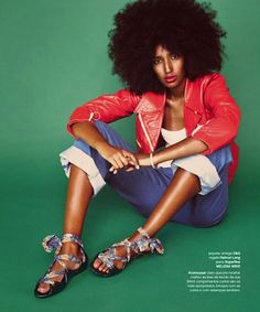 Julia Sarr-Jamois is just beauty and perfection personified.