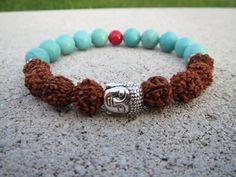 Buddha Good Health Rudraksha Bracelet Buddha by BohemianChicbead