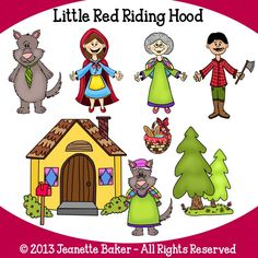 Little Red Riding Hood Inspired Clip Art © Jeanette Baker. Available at Jason's Online Classroom. $$