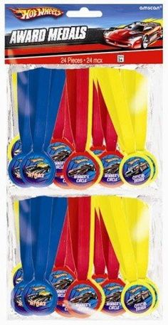 "Amscan Hot Wheels Speed City 13"" x 1/2"" Mini Award Medals, 24-Count Amscan,http://www.amazon.com/dp/B006MKKSA4/ref=cm_sw_r_pi_dp_Z5R9sb1PNXSZXCF8"