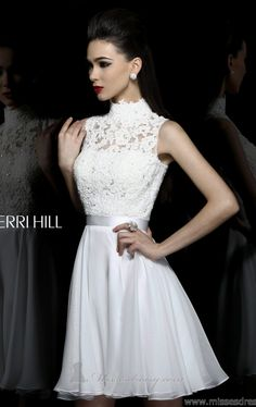 I wonder how this would look as a formal dress instead of cocktail. Sherri Hill 21184