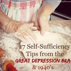 Grab these 17 self-sufficiency tips from the Great Depression and 1940's and learn how they really did it without electricity or refrigeration. Loved the live interview with her Dad who actually went lived through this and shares his stories. So much wisd