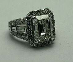 5.00CT EMERALD CUT DIAMOND :: Buckhead Jewelry :: Jeweler Designer creating fine jewelry in platinum and gold