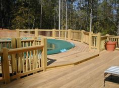 charming above ground pool decks designs. Charming Above Ground Pool Decks Styles  Amazing Design With Small Patio Furniture Wooden Deck Flooring Decoration And Fence with a Yard Garage