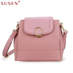 SUSEN 1088 Women Bag Shoulder & Crossbody Bag Cover Closure Top PU Leather Messenger Bag Simple Design Adjustable strap Bag