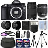 EveryDeal - Canon EOS 70D SLR Camera   4 Lens Kit 18-55 STM  75-300 mm   24GB TOP VALUE KIT! Was: $1429.99 Now: $1099.95.