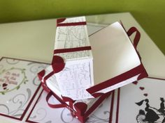 Noch eine Hochzeitsbox – Melli's StempelParadies Exploding Boxes, Fondant, Gift Wrapping, Gifts, Hide Money, Boxes, Diys, Packaging, Tutorials