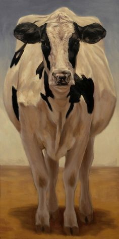 "Cow Girl Holstein by Denise Rich Oil ~ 48"" x 24"""