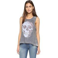 (チェイサー) Chaser レディース トップス Tシャツ Floral Skull Tank 並行輸入品  新品【取り寄せ商品のため、お届けまでに2週間前後かかります。】 カラー:- 商品詳細1:Fabric: Soft jersey. 50% cotton/50