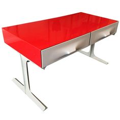 Raymond Loewy, Table Basse DF2000, circa 1960s | From a unique collection of antique and modern coffee and cocktail tables at https://www.1stdibs.com/furniture/tables/coffee-tables-cocktail-tables/