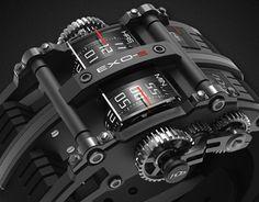 EXO concept watch for Amazing Watches, Beautiful Watches, Cool Watches, Unusual Watches, Dream Watches, Fine Watches, Stylish Watches, Luxury Watches For Men, Futuristisches Design