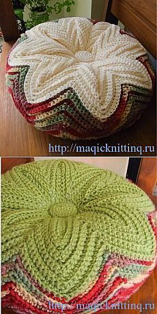 Best 10 Crochet floor poof or pillow Picot Crochet, Crochet Flower Hat, Crochet Wool, Crochet Cushions, Crochet Pillow, Crochet Motif, Crochet Crafts, Crochet Projects, Yarn Crafts