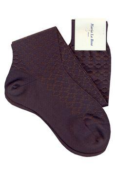 Knee socks with pattern. 75% cotton 25% silk