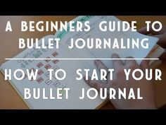 How to Bullet Journal - YouTube