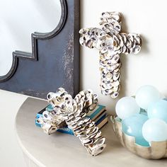Wisteria - Mirrors & Wall Decor - Shop by Category - Wall Decor -  Oyster Shell Cross - $69.00