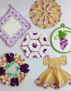 Picture of Vintage Purple Potholder Crochet Patterns