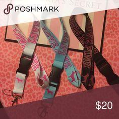 VS PINK LANYARD BUNDLE Brand new✨ PINK Victoria's Secret Accessories Key & Card Holders