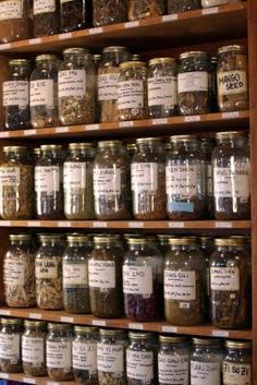 How to Start Long Term Food Storage - Love all the glass...need to secure it though for earthquakes!!