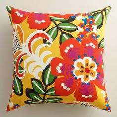 Featuring our exclusive floral design, our vibrant throw pillow is made of high-performance fabric for long-term outdoor use. www.worldmarket.com #WorldMarket Outdoor Entertaining