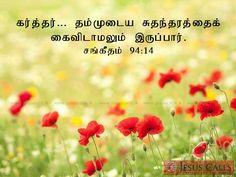 கர்த்தர்… தம்முடைய சுதந்தரத்தைக் கைவிடாமலும் இருப்பார். சங்கீதம் 94:14