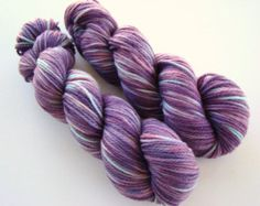 Hand Dyed Yarn, Lilac Aqua Wool, Hand Dyed Wool, Medium Worsted Yarn, Light Purple Yarn, Purple Dyed Wool, Lilac Dyed Wool,Knitting Supplies
