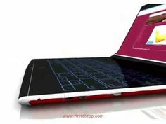 ROLLTOP LAPTOP NEW TECHNOLOGY 2014 - YouTube