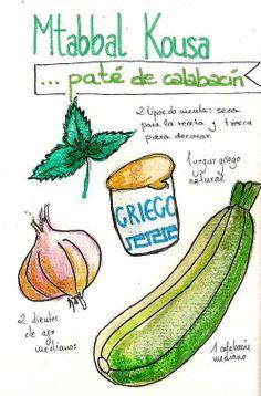 Mtabbal kousa (Paté de calabacín)