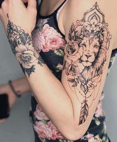 Tattoo Ideas, Tattoo For Guys, Geometric Tattoo, Thigh Tattoo, Tatto …. - tattoo feminina - Tattoo Ideas Tattoo For Guys Geometric Tattoo Thigh Tattoo Tatto . Leo Tattoos, Cute Tattoos, Beautiful Tattoos, Body Art Tattoos, Girl Tattoos, Sleeve Tattoos, Zodiac Tattoos, Unique Tattoos, Lion Tattoo Sleeves