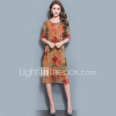 ca4932ff9a Women s Party Holiday Going out Casual Daily Vintage Street chic  Sophisticated Loose Dress