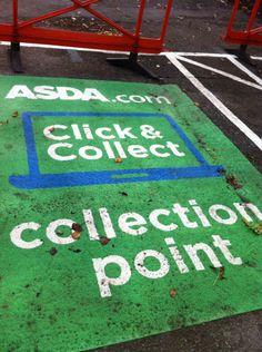 Asda tube station click & collect food