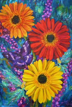 'The Secret Garden' oil on canvas By Amanda Wright