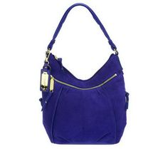 Tignanello golden zip suede hobo bag. I have this one!