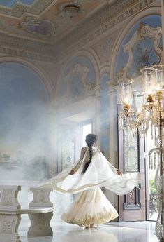 947. As soon as they left, she spun dreamily through the empty room. It was grand, large and glamorous, and the gardens out the windows looked even more inviting. How wonderful life would be living in such a palace! #947.