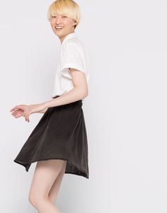 Pull&Bear - woman - new products - faded skater skirt - lead - 09399314-I2016
