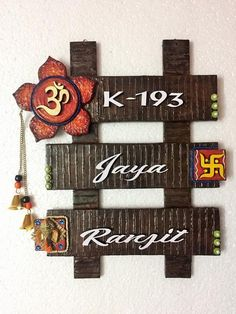 Mural name plate craft pinterest craft and cuttings for Mural name plate
