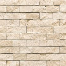 White Quartzite Split Face Mosaic Tile Stone Wall