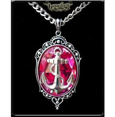 Pink Anchor Pendant Necklace