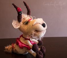 Pattern Library, Ravelry, Goats, Christmas Ornaments, Patterns, Craft, Holiday Decor, Crochet, How To Make