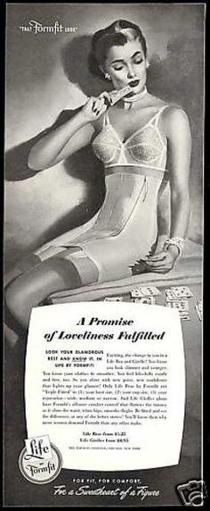 Formfit Lingerie Promise Fulfilled Bra Girdle (1952)