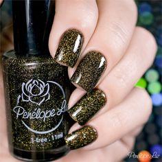 Esmalte Penélope Luz Desire Coleção Delirium. Glitter. Glamour. Nails. Nail art.