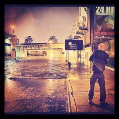 The AMC during Hurricane Sandy